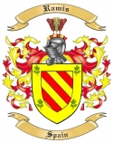 Ramis Family Crest from Spain