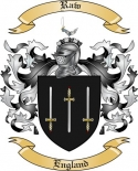 Raw Family Coat of Arms from England