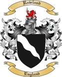 Rawland Family Crest from Engand
