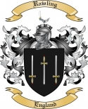 Rawling Family Crest from England