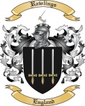 Rawlings Family Crest from England