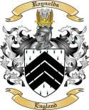 Raynalds Family Coat of Arms from England