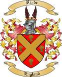 Reade Family Coat of Arms from England