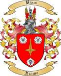 Ream Family Coat of Arms from France