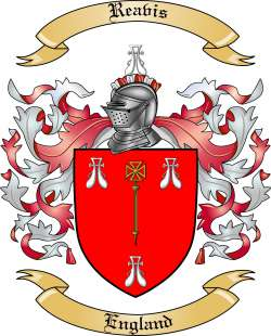 Reavis Family Coat of Arms from England