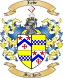 Rede Family Coat of Arms from Scotland