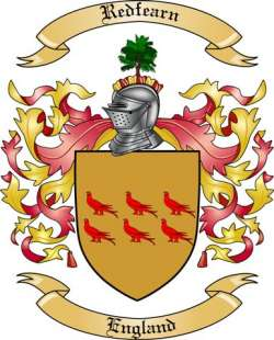 Redfearn Family Coat of Arms from England