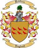 Redfern Family Crest from England