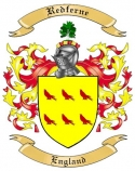 Redferne Family Crest from England