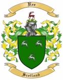Ree Family Crest from Scotland