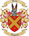 Reede Family Coat of Arms from England