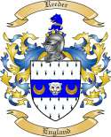 Reeder Family Coat of Arms from England
