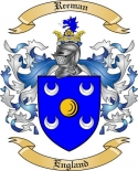 Reeman Family Crest from England