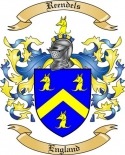 Reendels Family Coat of Arms from England
