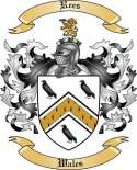 Rees Family Crest from Wales