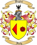 Regini Family Crest from Italy