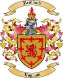 Reidland Family Crest from England