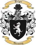 Reiger Family Crest from Germany