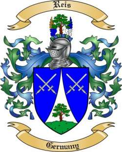 Reis Family Crest from Germany2 by The Tree Maker