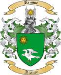 Remme Family Coat of Arms from France