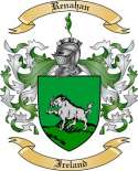 Renahan Family Crest from Ireland