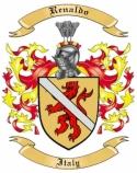 Renaldo Family Crest from Italy