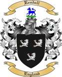 Rendall Family Crest from England