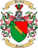 Rendon Family Crest from France