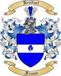 Renduel Family Coat of Arms from France