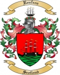 Renfreu Family Coat of Arms from Scotland