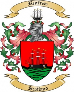 Renfrew Family Crest From Scotland By The Tree Maker