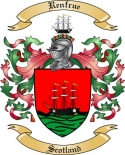 Renfrue Family Coat of Arms from Scotland