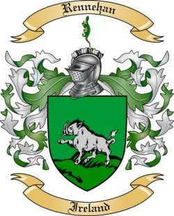 Rennehan Family Crest from Ireland