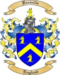 Rennells Family Coat of Arms from England