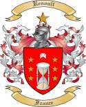 Renoult Family Coat of Arms from France