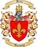 Renz Family Crest from Germany