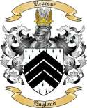 Repesse Family Coat of Arms from England