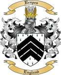 Respes Family Coat of Arms from England