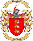 Reuedene Family Crest from Scotland