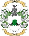 Revelli Family Crest from Italy