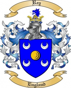 Rey Family Crest From England By The Tree Maker