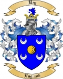 Rey Family Coat of Arms from England