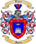 Reyes Family Crest from Spain