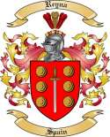 Reyna Family Coat of Arms from Spain