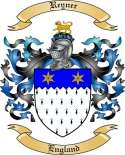 Reyner Family Crest from England
