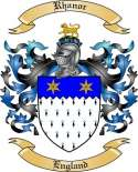 Rhanor Family Coat of Arms from England