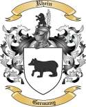 Rhein Family Crest from Germany