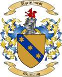 Rheinhardt Family Crest from Germany