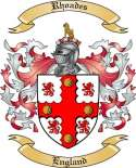 Rhoades Family Coat of Arms from England