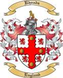 Rhoads Family Crest from England